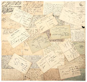 Vintage postcards. handwritten undefined texts Royalty Free Stock Photos