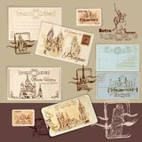 Vintage Postcards Template Royalty Free Stock Photo
