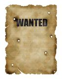 Vintage poster. Wanted dead or alive Stock Photos