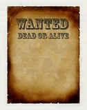 Vintage poster. Wanted dead or alive Royalty Free Stock Photo