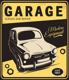 Vintage poster, auto repair. Royalty Free Stock Photo
