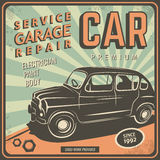 Vintage poster, auto repair. Royalty Free Stock Photography