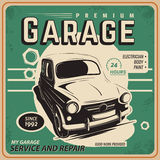 Vintage poster, auto repair. Royalty Free Stock Image