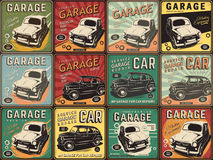 Vintage poster, auto repair. Royalty Free Stock Images