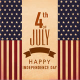 Vintage poster or banner for American Independence Day. Stock Photography