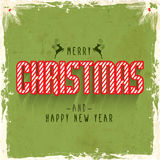 Vintage Poster, Banner for Christmas and New Year. Stock Photo