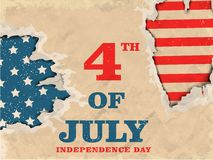 Vintage Poster, Banner design for 4th of July. Vintage Poster, Banner or Flyer design for 4th of July, American Independence Day celebration Stock Images
