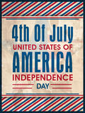 Vintage poster, banner or flyer for American Independence Day. Royalty Free Stock Photos