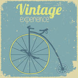 Vintage poster with bicycle. Hipster recreation poster. Antic sport equipment Royalty Free Stock Photography