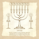 Vintage poster with candles Royalty Free Stock Image