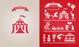 Vintage poster with carnival, fun fair, circus Royalty Free Stock Photography
