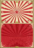 Vintage poster circus background Royalty Free Stock Photography