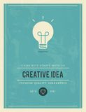 Vintage poster for creative idea Stock Photography