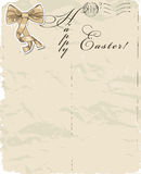 Vintage poster about Easter. Stock Photography