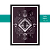 Vintage poster ethnic patterns. Poster ethnic patterns on a white background. Vector illustration Royalty Free Stock Images