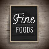 Vintage poster for food and drinks Royalty Free Stock Images