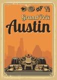 Vintage poster Grand Prix Austin Stock Image