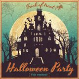 Vintage poster for Halloween Royalty Free Stock Photos