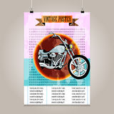 Vintage poster with high detail  motorbike Stock Photography