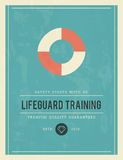 Vintage poster for lifeguard training Stock Images