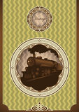 Vintage poster with locomotive. Stock Image