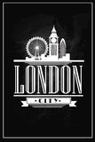 Vintage poster - London, UK. Vector EPS10. Royalty Free Stock Images