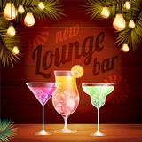 Vintage poster. Lounge club. Vintage poster. Lounge cocktail club Stock Photography