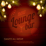 Vintage poster. Lounge club Royalty Free Stock Photography