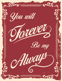 Vintage poster with love quote Royalty Free Stock Photo