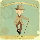 Vintage poster men fashion Royalty Free Stock Photos