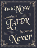 Vintage Poster with motivation quote royalty free illustration