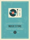 Vintage poster for music store Royalty Free Stock Photography