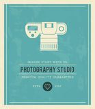 Vintage poster for photography studio Stock Images