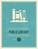 Vintage poster for public library Stock Image