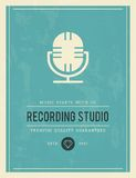 Vintage poster for recording studio Royalty Free Stock Photos