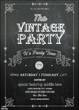 vintage poster with retro elements on chalkboard background. vector illustration