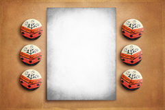 Vintage poster on the rustic texture background Royalty Free Stock Photography