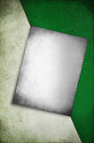 Vintage poster on rustic texture half white and green background Stock Photo