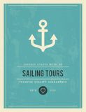 Vintage poster for sailing tours Stock Photo