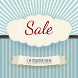 Vintage Poster Sale. Vector illustration Stock Photos