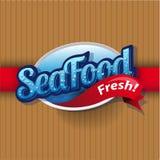Vintage poster for seafood restaurant. Vintage poster for seafood restaurant vector Stock Images