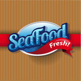 Vintage poster for seafood restaurant. Stock Images