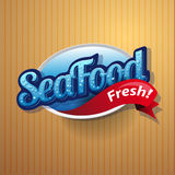 Vintage poster for seafood restaurant. Royalty Free Stock Image