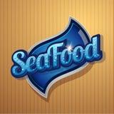 Vintage poster for seafood restaurant. Vintage poster for seafood restaurant vector Royalty Free Stock Photos