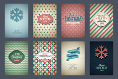 Vintage poster set. Merry Christmas. Vector illustration Royalty Free Stock Images