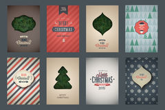Vintage poster set. Merry Christmas. Vector illustration Royalty Free Stock Photos