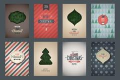 Vintage poster set. Merry Christmas. Vector illustration vector illustration