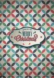 Vintage poster set. Merry Christmas. Vector illustration royalty free illustration