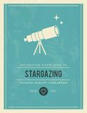 Vintage poster for stargazing Royalty Free Stock Images