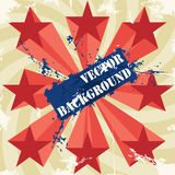 Vintage poster with stars. Vector illustration Royalty Free Stock Photography